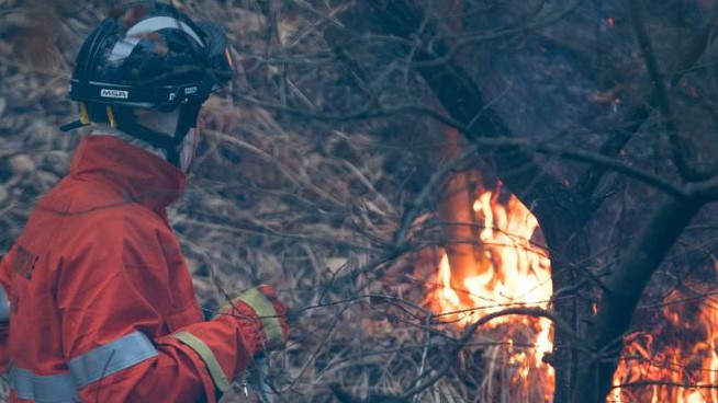I vigili del fuoco al lavoro