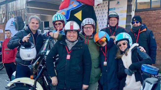 I bikers del Radetzky moto club a Cesano Boscone