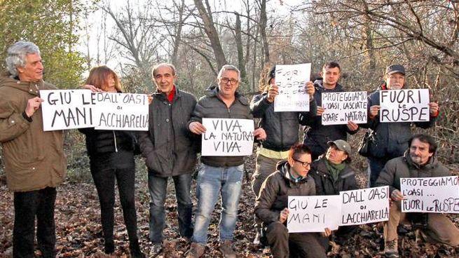 La manifestazione degli ambientalisti