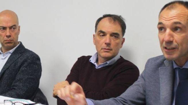 Federico Pieragnoli con Luigi Cecchi e Juri Taglioli