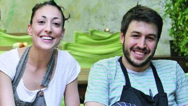 Camilla Corbelli e Mariano Guardianelli, i giovani titolari del ristorante Abocar due cucine