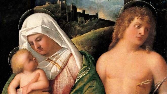 La 'Madonna con bambino e San Sebastiano' (1519) di Giovanni Cariani