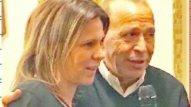 Laura Golin col padre Lino