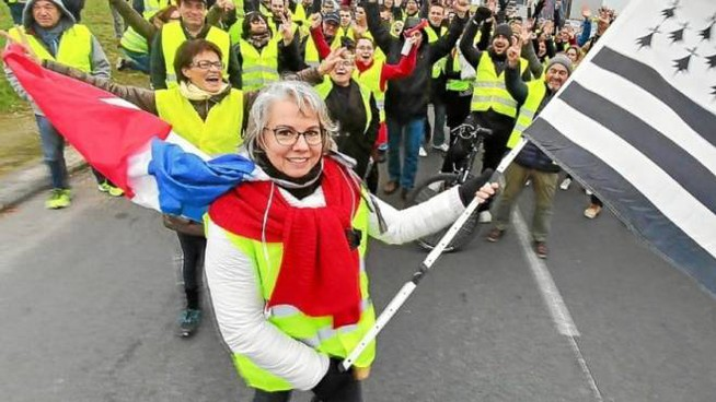Jacline Mouraud, la pasionaria dei Gilet gialli