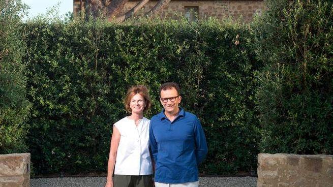Philippe Bertherat con la moglie Tonie