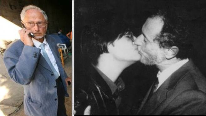 Fernando Aiuti e il bacio con Rosaria Iardino (Ansa)