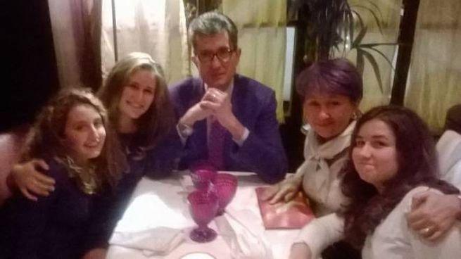 Riccardo Tacconi con la sua famiglia al completo