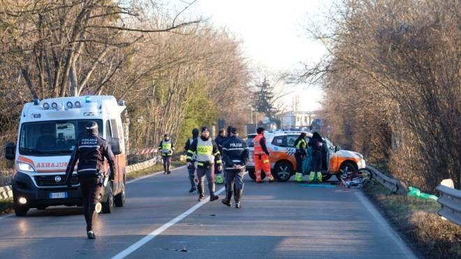 L'incidente mortale avvenuto sul ponte di Sant'Ambrogio (foto Fiocchi)