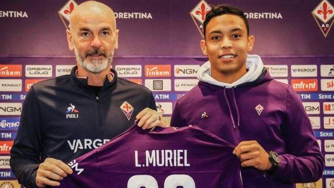 Fiorentina, Pioli con Muriel (Foto: Riccardo Germogli Fotocronache)