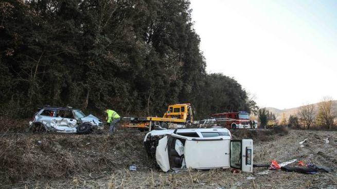 La scena dell'incidente (Tommaso Gasperini / Fotocronache Germogli)