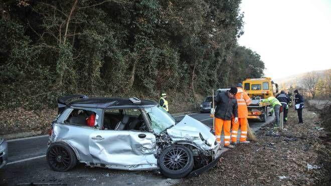 L'incidente in provincia di Firenze (Tommaso Gasperini / Fotocronache Germogli)
