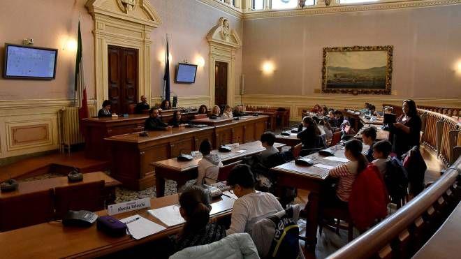 L'aula del consiglio comunale di Livorno