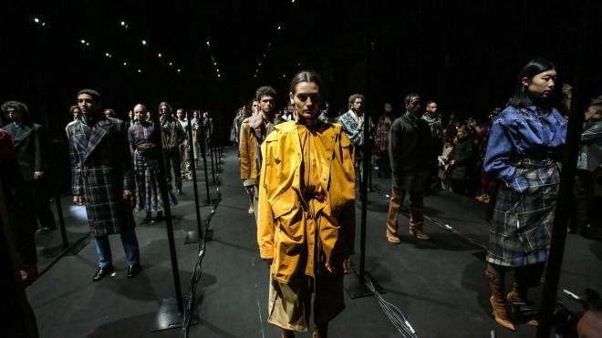 Una sfilata di Pitti Uomo 95 (New Press Photo)