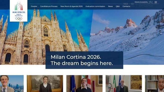 Il sito ufficiale di Milano-Cortina 2026