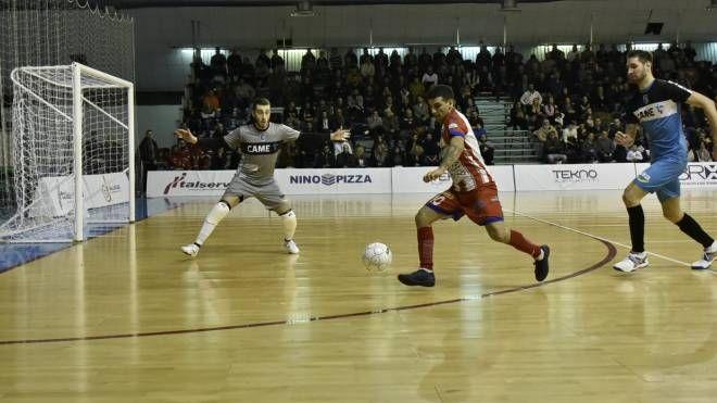 Borruto segna il gol del 3 a 3 con il Came Dosson