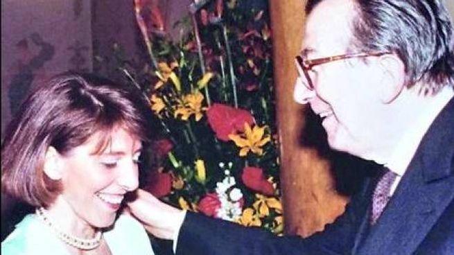 Giulio Andreotti con la figlia Serena