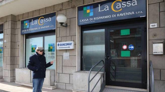 Tentato assalto al bancomat di via Ferrarese, a Bologna (FotoSchicchi)