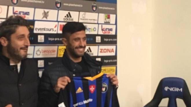 Luca Verna e il diesse Roberto Gemmi