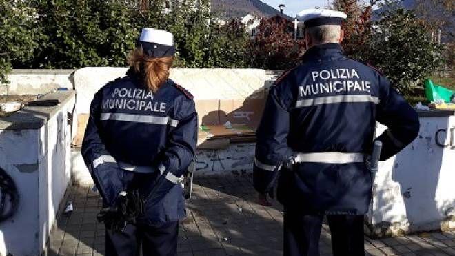 L'intervento della polizia municipale