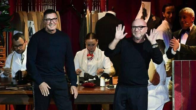 Gli stilisti Stefano Gabbana e Domenico Dolce (Afp Lapresse)