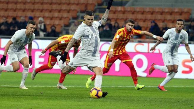Inter Benevento, Icardi (Ansa)