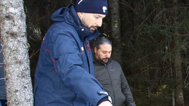 Il sopralluogo di periti e carabinieri nei boschi della Valmalenco