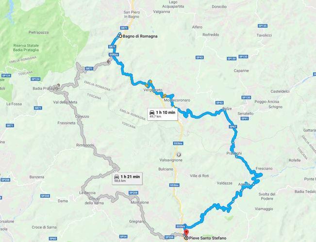 Cartina Geografica Emilia Romagna E Toscana.E45 Cesena Il Percorso Alternativo La Mappa Cronaca Ilrestodelcarlino It