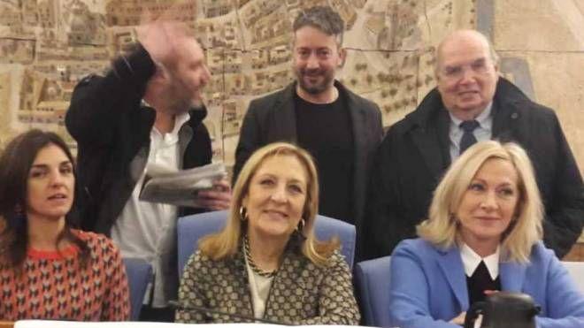 La presentazione con Tartaglione, Ceccarelli, Tinazzi, Bcc Gradara ed Ercolani