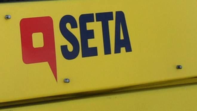 Un autobus della linea urbana di Seta