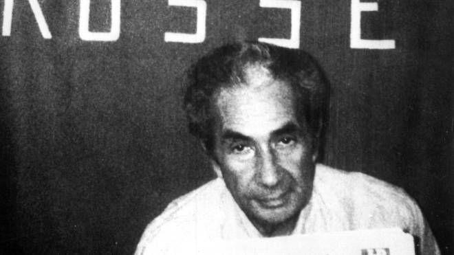 La foto di Aldo Moro scattata dalle Brigate Rosse nel 1978 (Ansa)