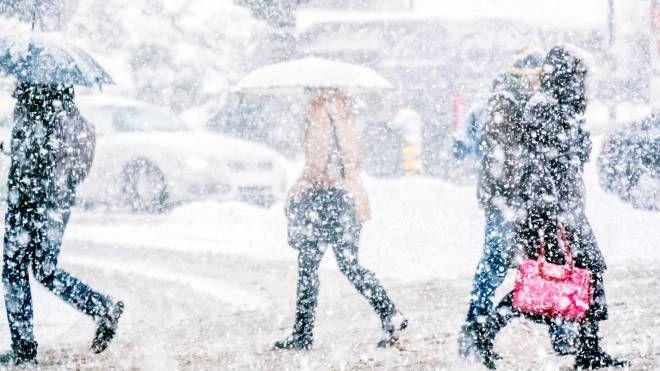 La neve in un'immagine d'archivio