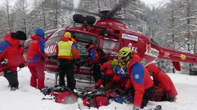 Soccorso Alpino in Alto Adige, foto di repertorio (Ansa)