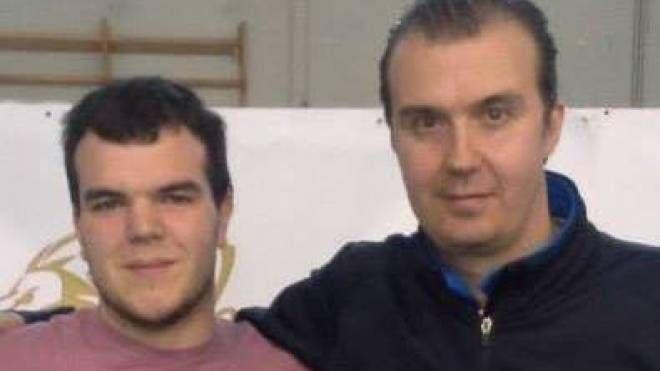 Coach Marco Giazzi con Simone Pianigiani dell'Olimpia