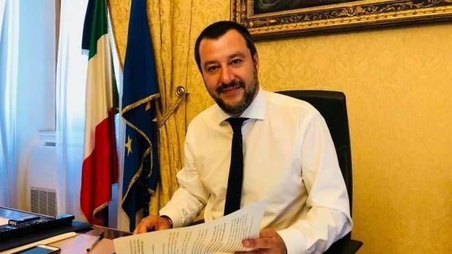 Il vicepremier Matteo Salvini (Twitter/Ansa)