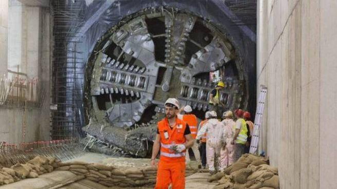 La talpa per lo scavo della galleria buca il diaframma in largo Gelsomini  (Patrick Tomei)