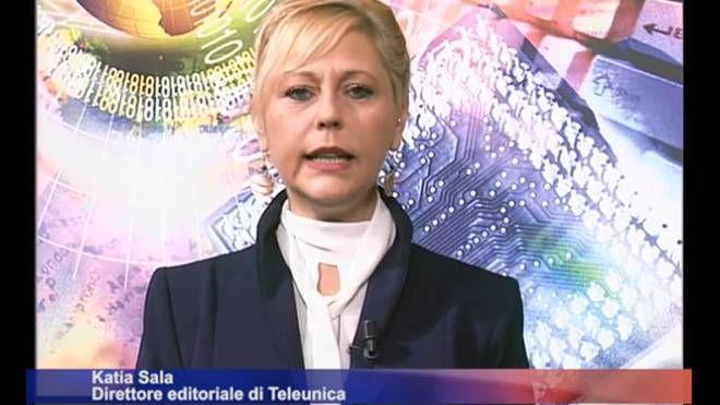 Katia Sala la sera in cui annunciò che a breve Unica avrebbe chiuso