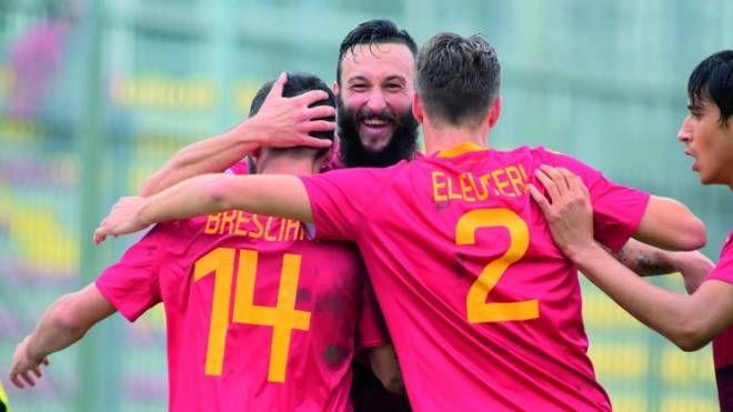 Manuel Nocciolini, bombr giallorosso con 8 reti, autore del gol del momentaneo pareggio
