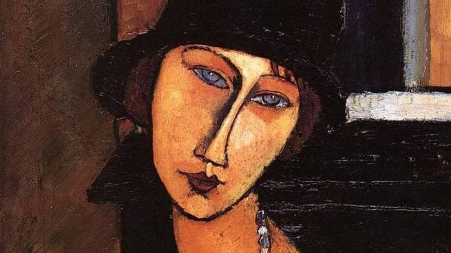 Un ritratto di donna di Modigliani (come l'opera sequestrata) con la musa Jeanne Hébuterne