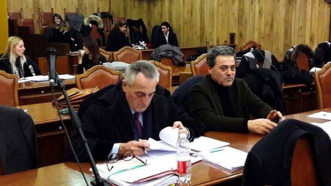 Processo Carife, Sergio Lenzi e l'avvocato Massimo Mazzanti (Foto Businesspress)