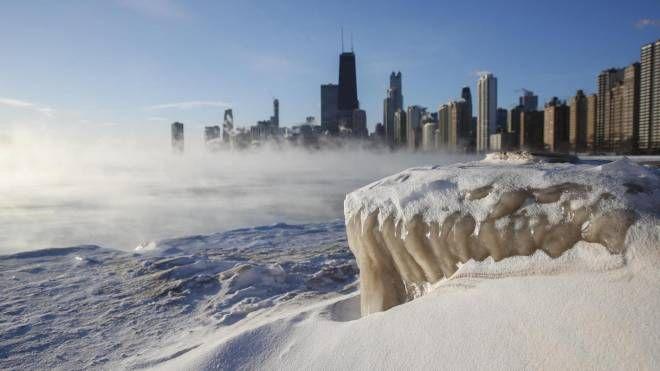 Freddo polare in Usa, Chicago al gelo (Ansa)