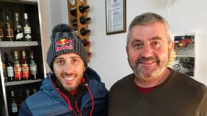 Ponzano, Andrea Dovizioso al crossodromo di Ponzano