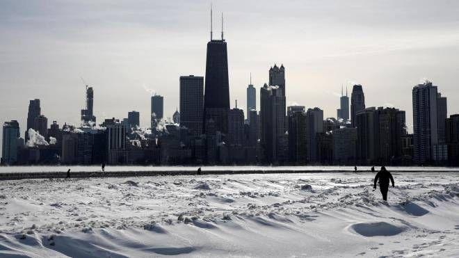 Chicago, gli effetti dell'ondata di gelo (Ansa)