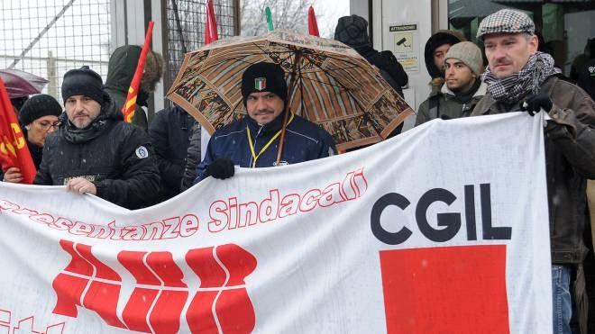 La protesta dei lavoratori Abb