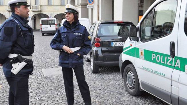 La polizia locale in azione