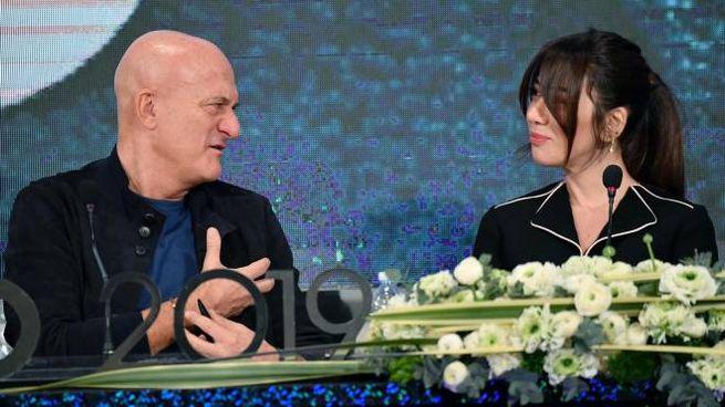 Virginia Raffaele e Claudio Bisio (Ansa)