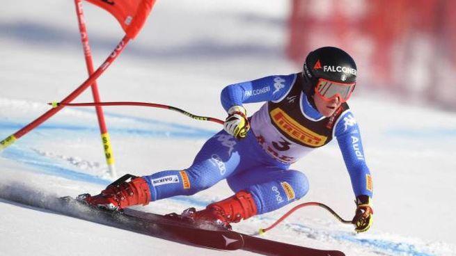 Mondiali di sci alpino, Sofia Goggia in azione (Ansa)
