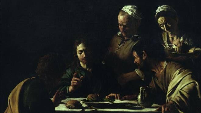 """Michelangelo Merisi detto il """"Caravaggio"""": Cena in Emmaus"""