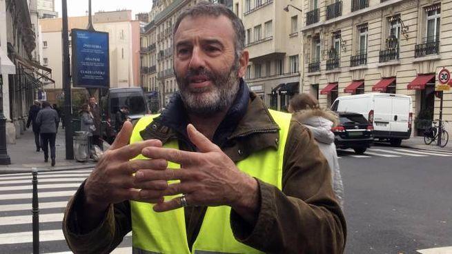 Il leader dei gilet gialli Christophe Chalençon (Ansa)