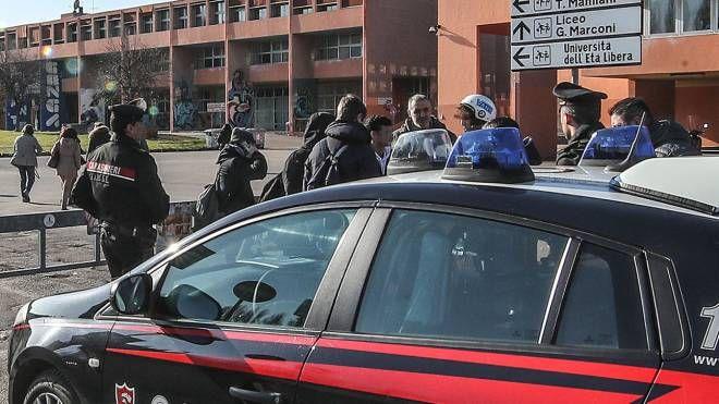 I carabinieri dopo la rissa