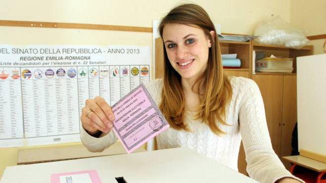 Una giovane elettrice cesenate